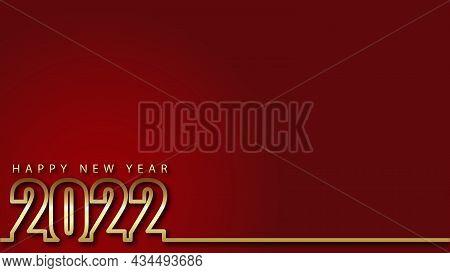 2022. Golden 2022 Background. 2022 Happy New Year. 2022 Vector Design Illustration Similar For Greet