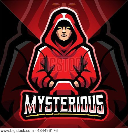 Mysterious Esport Mascot Logo Design With Text