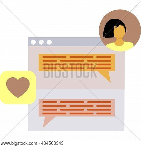 Chat Icon Vector Forum Symbol Web Design