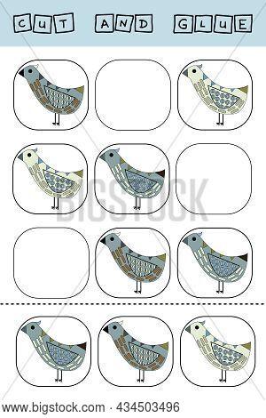 Sudoku For Kids With Funny Forest Animals  Bird . Children's Puzzles. Preschool Worksheet, Kids Acti