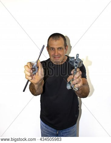 Man With Tool, Locksmith, Foreman A Photo A