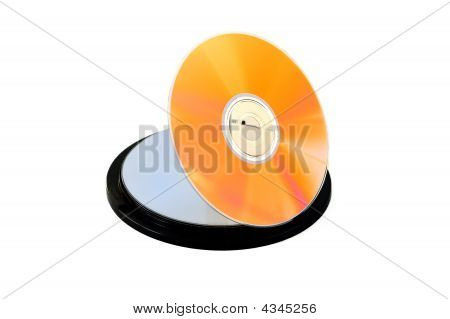 Orange Cd/dvd Disk