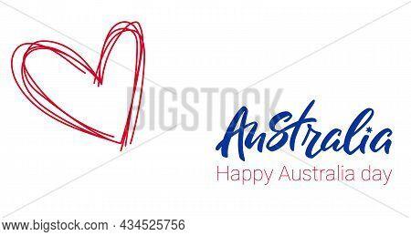 Happy Australia Day Lettering. Love Australia.