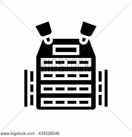 Body Armor Glyph Icon Vector. Body Armor Sign. Isolated Contour Symbol Black Illustration