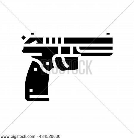 Gun Weapon Glyph Icon Vector. Gun Weapon Sign. Isolated Contour Symbol Black Illustration