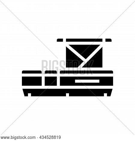 Pontoon Boat Glyph Icon Vector. Pontoon Boat Sign. Isolated Contour Symbol Black Illustration