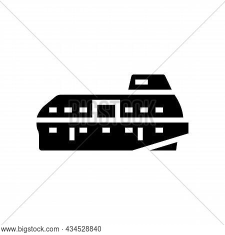 Lifeboat Boat Glyph Icon Vector. Lifeboat Boat Sign. Isolated Contour Symbol Black Illustration