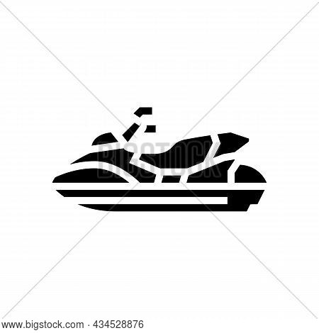 Personal Watercraft Glyph Icon Vector. Personal Watercraft Sign. Isolated Contour Symbol Black Illus