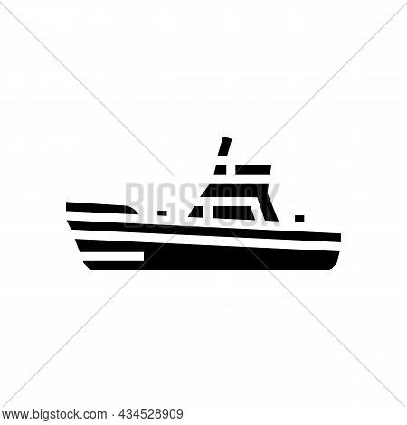 Game Boat Glyph Icon Vector. Game Boat Sign. Isolated Contour Symbol Black Illustration
