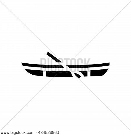 Dinghy Boat Glyph Icon Vector. Dinghy Boat Sign. Isolated Contour Symbol Black Illustration
