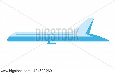 Airplane Side View. Aircraft In Flat Style.