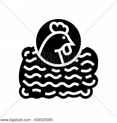 Ground Chicken Glyph Icon Vector. Ground Chicken Sign. Isolated Contour Symbol Black Illustration