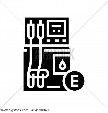 Ethanol Gas Station Glyph Icon Vector. Ethanol Gas Station Sign. Isolated Contour Symbol Black Illus