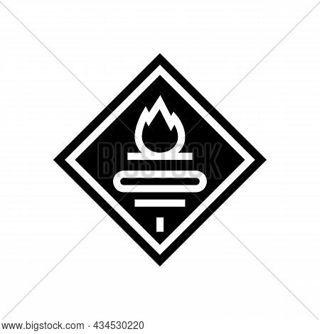 Fuel Carrying Truck Glyph Icon Vector. Fuel Carrying Truck Sign. Isolated Contour Symbol Black Illus
