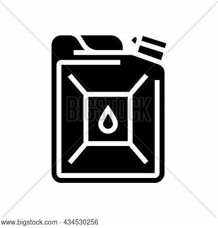 Bio-diesel Gas Station Glyph Icon Vector. Bio-diesel Gas Station Sign. Isolated Contour Symbol Black