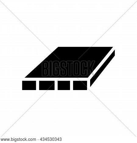 Flush Door Shutters Glyph Icon Vector. Flush Door Shutters Sign. Isolated Contour Symbol Black Illus