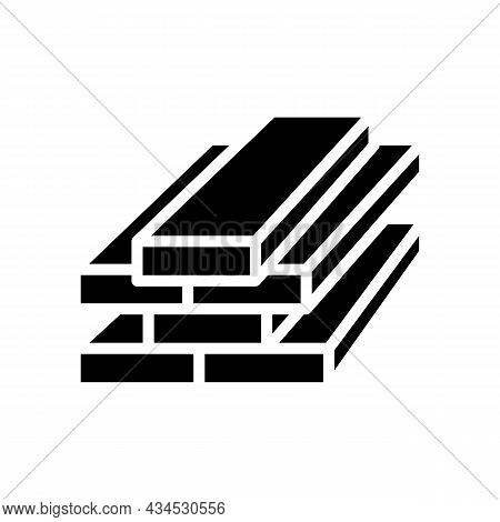 Lumber Timber Glyph Icon Vector. Lumber Timber Sign. Isolated Contour Symbol Black Illustration