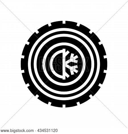 All Season Tires Glyph Icon Vector. All Season Tires Sign. Isolated Contour Symbol Black Illustratio