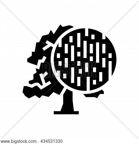 Beech Wood Glyph Icon Vector. Beech Wood Sign. Isolated Contour Symbol Black Illustration
