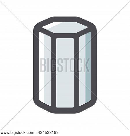 Metal Fitting Reinforcement Steel Vector Icon Cartoon Illustration