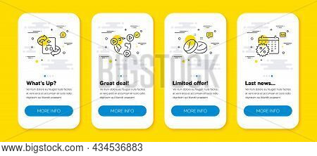 Vector Set Of Video Conference, Technical Algorithm And Medical Tablet Line Icons Set. Ui Phone App