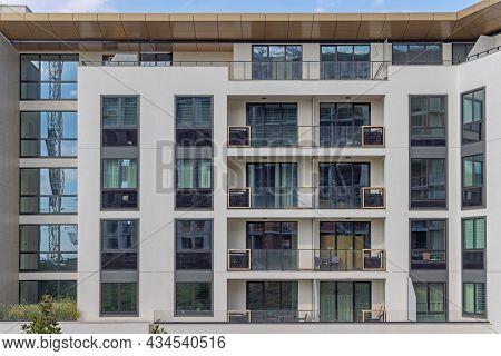 New Condos Apartment Building Residential Block In City