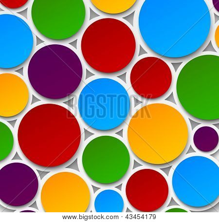 Vector abstract background composed of colorful paper bubbles. Eps10.
