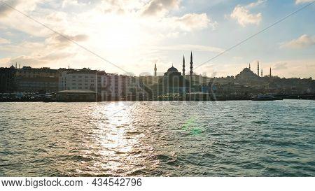 Ankara, Turkey - January 9, 2021: View Of Bosphorus Strait In Istanbul, Turkey. Bosphorus Strait Sep