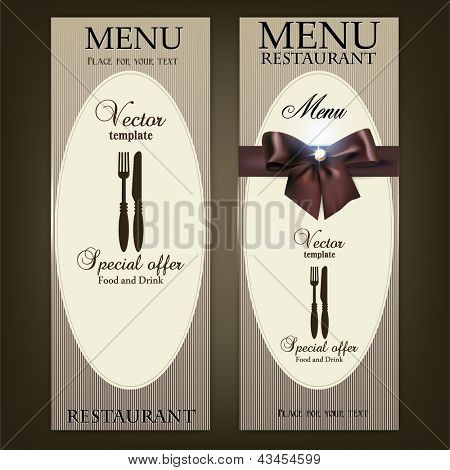 Restaurant Menu design. Vector template