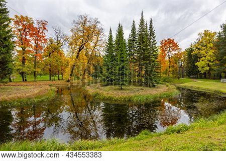 Autumn Foliage In Catherine Park, Pushkin (tsarskoe Selo), Saint Petersburg, Russia