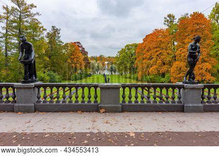 Catherine Park In Tsarskoe Selo (pushkin) In Autumn Foliage, Saint Petersburg, Russia
