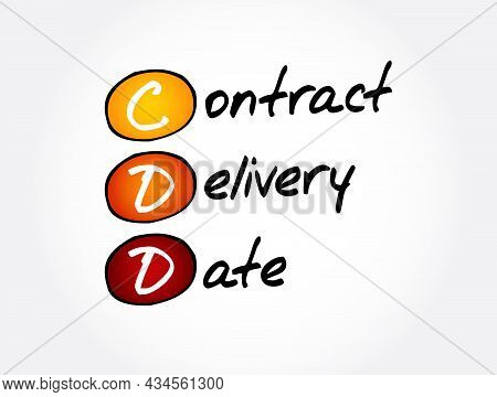 Cdd - Contract Delivery Date Acronym, Business Concept Background