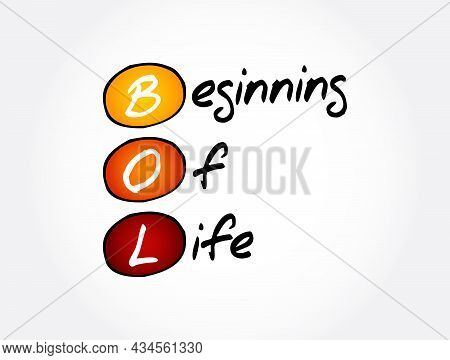 Bol - Beginning Of Life Acronym, Concept Background