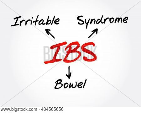 Ibs - Irritable Bowel Syndrome Acronym, Medical Concept Background