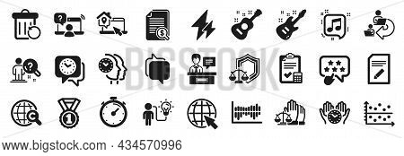 Set Of Education Icons, Such As Delegate Work, Exhibitors, International Copyright Icons. Musical No