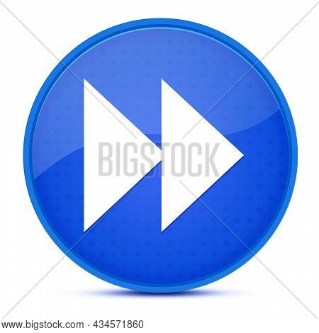Jump Forward Aesthetic Glossy Blue Round Button Abstract Illustration