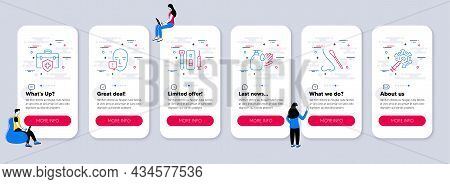 Set Of Medical Icons, Such As Nasal Test, Wash Hands, Medical Insurance Icons. Ui Phone App Screens