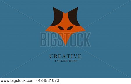 Simple Star Fox Head, Great For Animal Logo Icons, Companies, T-shirts, Children's Toys, Animals, Pa
