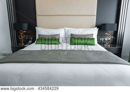 Modern Bedroom With Bed In A Hotel
