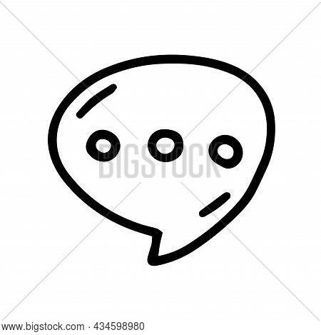 Wait Speech Bubble Line Vector Doodle Simple Icon