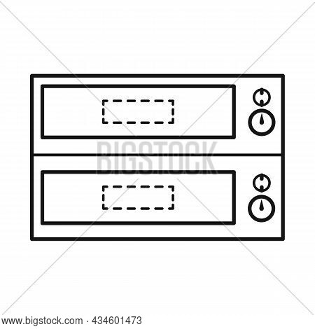 Vector Design Of Oven And Kitchenware Icon. Web Element Of Oven And Appliances Vector Icon For Stock