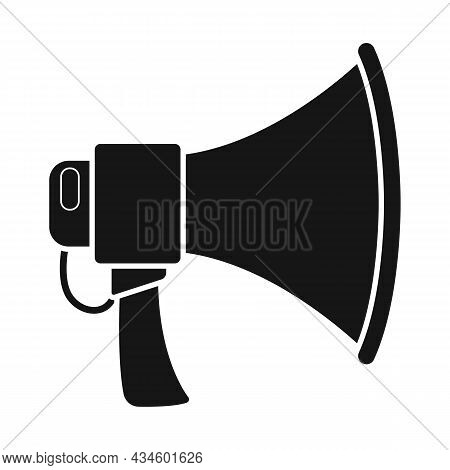Vector Illustration Of Megaphone And Warning Sign. Web Element Of Megaphone And Scream Stock Symbol