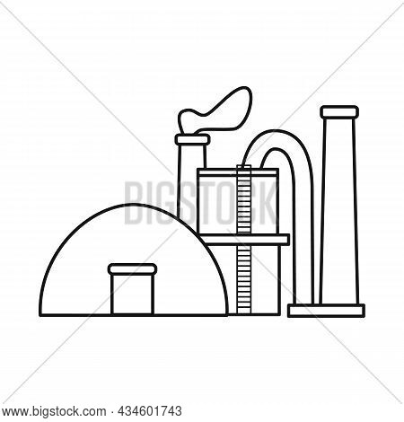Vector Illustration Of Factory And Storage Logo. Set Of Factory And Production Stock Symbol For Web.