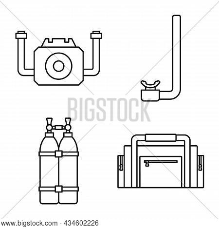 Vector Design Of Swim And Safety Icon. Collection Of Swim And Snorkeling Stock Vector Illustration.