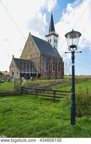 Den Hoorn, Texel, The Netherlands. August 2021. The Little Church Of The Village Den Hoorn On The Is