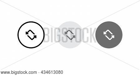 Rotate Smartphone Screen Button Icon Vector. Auto-rotate Symbol Images