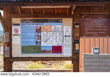 Glen Canyon Nr, Az, Usa - Sept 25, 2020: The Jenny Lake