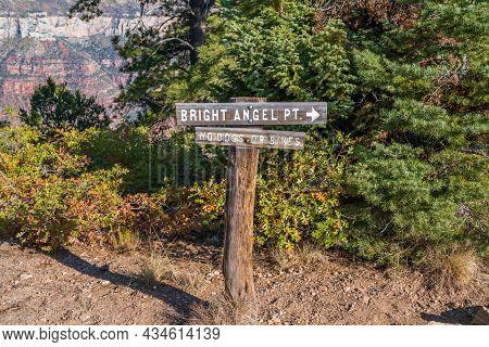 Glen Canyon Nr, Az, Usa - Oct 2, 2020: The Bright Angel Point