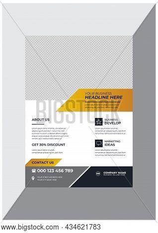 Creative Modern Business Flyer Design Template Vector