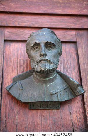 A Bust On The Door Of Mariacki Door